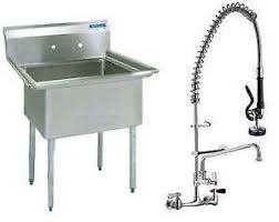 Kitchen Sink And Faucets 3 Compartment Sink Ebay