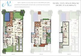 contemporary villa floor plans with vipul tatvam villas gurgaon