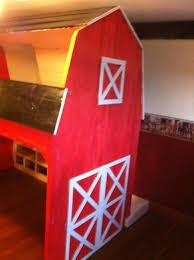 ana white classic red barn bunk bed diy projects
