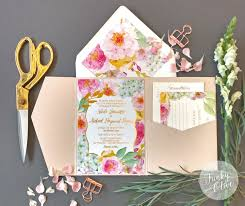 wedding invitations packages gold foil floral garden invitation package wedding invitations