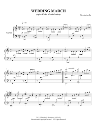 wedding march vicente avella pianist composer sheet wedding march