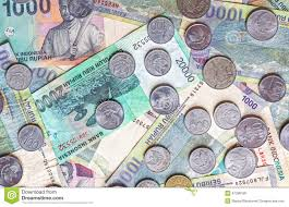 indonesian rupiah to usd money from indonesia rupiah banknotes and coins stock photo