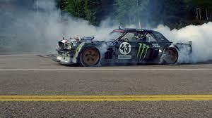 hoonigan drift cars climbkhana watch ken block drift up pikes peak in a twin turbo