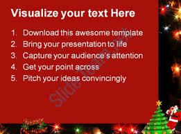 merry christmas festival powerpoint templates powerpoint