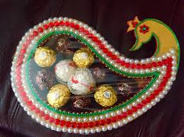Indian Wedding Gift Indian Wedding Decor Chocolate Tray Creative Crafts