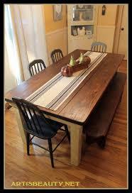 Farmhouse Kitchen Table Sets by Vintage Tolix Chairs And Rustic Farmhouse Kitchen Table Gorgeous