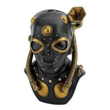 gas mask for halloween costume steampunk apocalypse gas mask statue cl6072 design toscano
