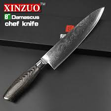 vg10 kitchen knives xinzuo chef knife 8 inch gyutou knife japanese vg10 damascus steel