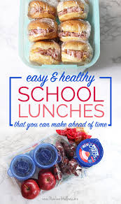 easy healthy school lunches you can make ahead of time