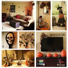 large living room halloween interior decorating with printed