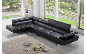 canapé cuir noir canapé en cuir design et moderne de couleur noir teck in home