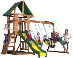 9 unbeatable wooden swing sets for solid backyard fun