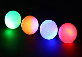 light up golf balls amazon com led light up golf balls glow in the dark night golf