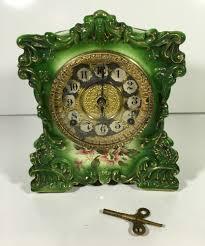 Forestville Mantel Clock Antique Gilbert Clock No 429 Porcelain China Ansonia 1906 Movement