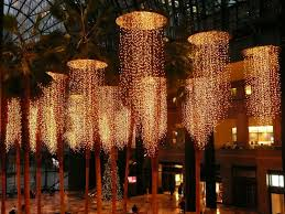 christmas lightening in winter garden world financial center new