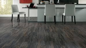 modern kitchen decor with dark gray rustic laminate hardwood floor