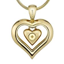 urn pendant the eternity heart 18kt gold finish cremation jewelry