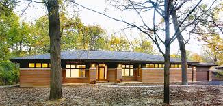 Praire Style Homes Frank Lloyd Wright Inspired Ranch House Prairiearchitect
