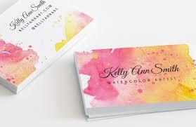 watercolor artist business card template u2014 medialoot