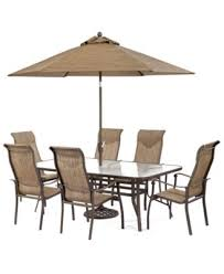 Outdoor Patio Set With Umbrella Oasis Outdoor Dining Collection Created For Macy U0027s Furniture