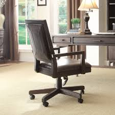 Leather Office Chair Buy Blair Blair High Back Leather Office Chair With Arms In Dark
