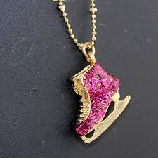 pink rhinestone necklace images Wholesale ice skating shoes necklace wholesale hip hop jewelry jpg