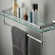 bathroom shelf with towel bar brushed nickel home design ideas