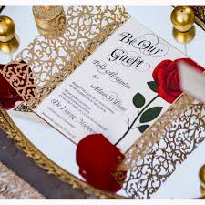 beauty and the beast wedding invitations beauty and the beast invitation invitation