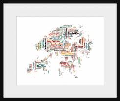 printable maps hong kong hong kong china color map typography map poster print text map
