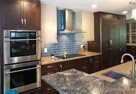 Green Subway Tile Backsplash Transitional Blue Tile Backsplash Kitchen And Blue Glass Tile Kitchen