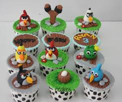 cupcake amazing angry bird theme birthday party angry birds cake