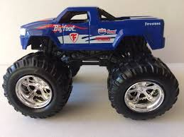bigfoot electric monster truck bigfoot motor max firestone blue monster truck 1 64 what u0027s it worth