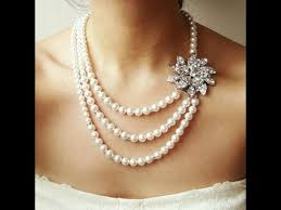 top 15 simple pearl bridal necklace set designs