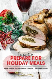 How To Prep For Thanksgiving How To Prepare For Holiday Meals Free Printable Included