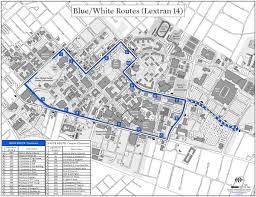 uky map blue route uk transportation services