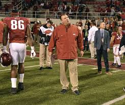 Arkansas traveling teams images Arkansas fires bielema moments following missouri loss san jpg
