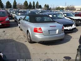 audi a4 2004 silver 2004 audi a4 cabriolet 1 8t fwd lylw silver for parts