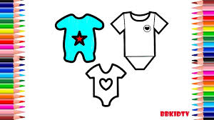 coloring pages how to draw baby clothes drawing dress for kids