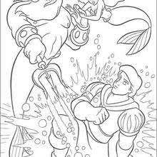 coloring pages of the little mermaid ariel and eric coloring pages hellokids com