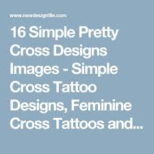 16 simple pretty cross designs images simple cross tattoo
