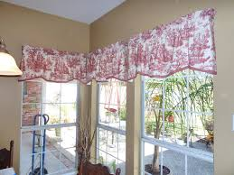 Toile Window Valances Red Toile Curtains Decorating Ideas Homesfeed