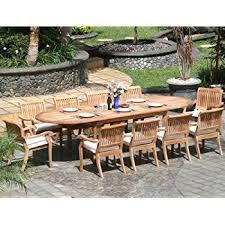 amazon com new 13 pc luxurious grade a teak dining set large