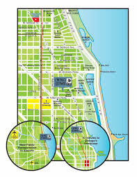 Chicago Downtown Map by Chicago Getaway Hostel
