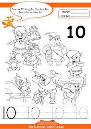kids under 7 writing numbers worksheets