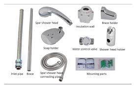 Bathroom Shower Parts Simple Bathroom Electric Shower Water Heater On Small Home Remodel