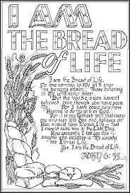 Bread Of Life Coloring Page Bread Coloring Page