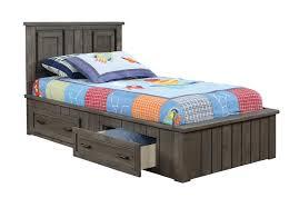 Captain Bed With Storage Coaster Napoleon Youth Captains Platform Storage Bed Gunsmoke