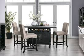 jaxon 5 piece extension counter set w fabric stools living spaces preloadjaxon 5 piece extension counter set w fabric stools room