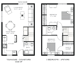 two home plans townhouse floor plans 2 bedroom ayathebook com
