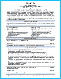 Resume Sample Format Fascinating Accounts Receivable Resume Best Business Template
